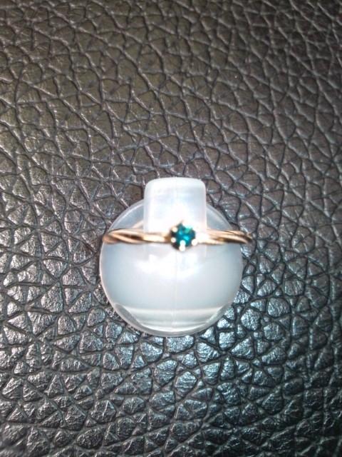 ブルーダイヤのゴールドのリング