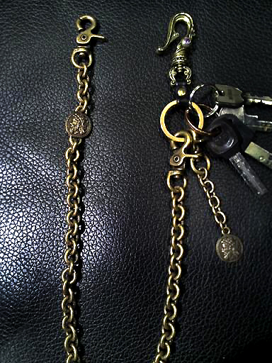 真鍮ウォレットチェーンKC461905