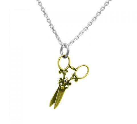 真鍮ハサミのネックレス