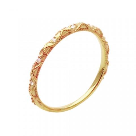 SND-048-500ピンクゴールドとメレダイヤのリング