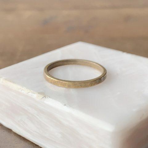 磨く前の指輪