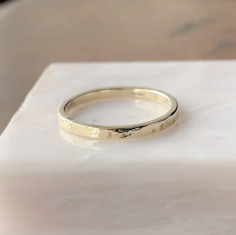 磨いた後の指輪