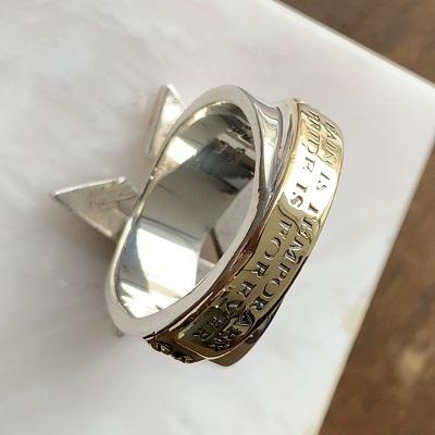指輪の変形直しとキズ取り後