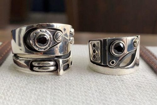 修理したリングの比較正面