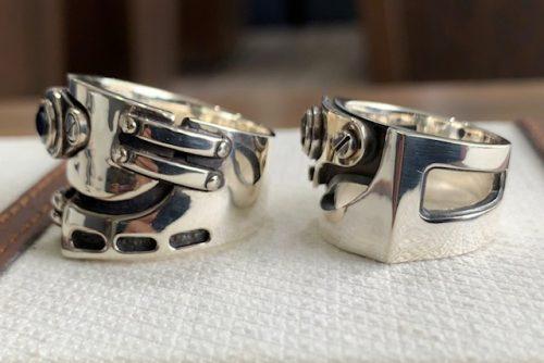修理したリングの比較