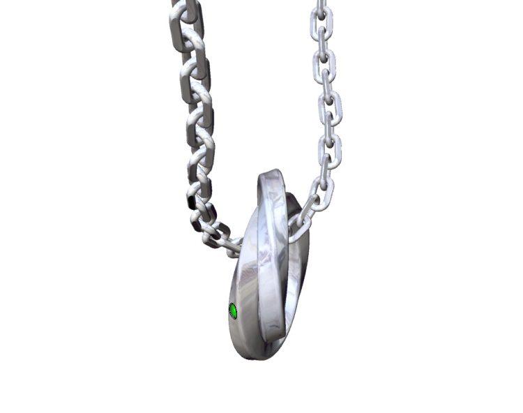ドクターモンローのオーダーメイド二連リングネックレスの3D画像
