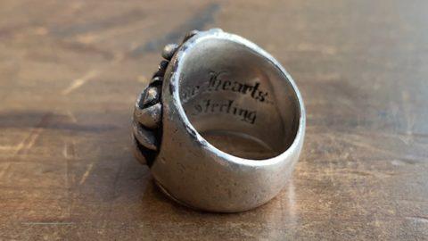 クロムハーツのリングのサイズ直し前