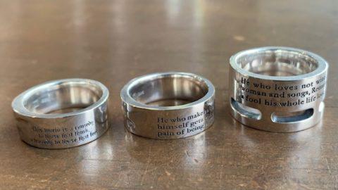 指輪の文字変更カスタム