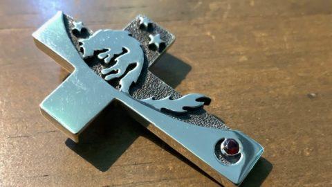 ウルフマンブラザーズのネックレスの石取れ修理