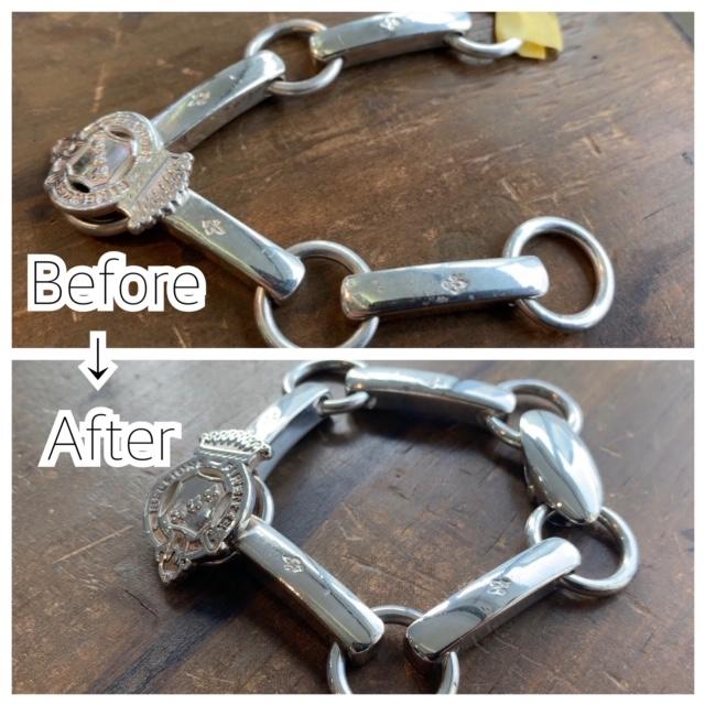 ブレスレットの留め具の付け足し修理