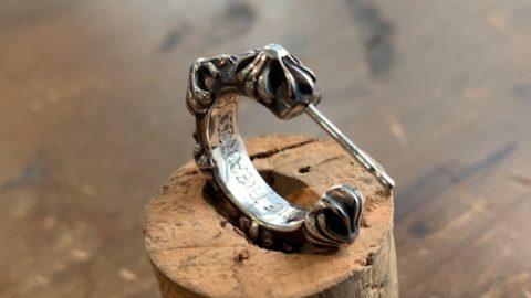 クロムハーツのピアスの針折れ修理