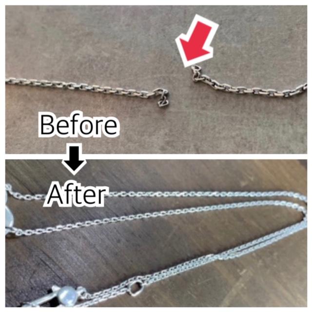 グッチのハートネックレスの修理0322