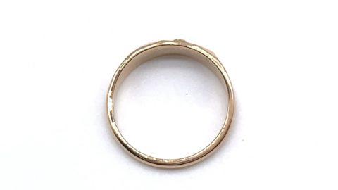 クロムハーツのk22ゴールドリングのサイズ直しと変形直し後