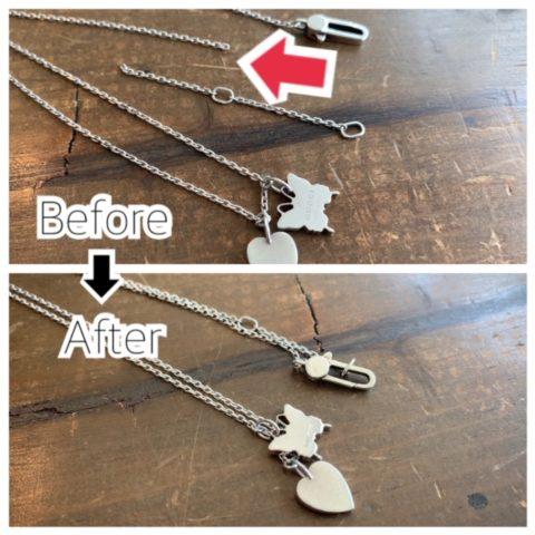 グッチのバタフライネックレスのチェーン切れ修理