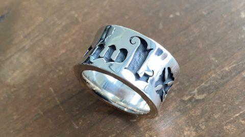 ビルウォールレザーのリングの磨き直しリペア修理後