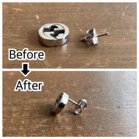グッチのピアスの針折れ修理