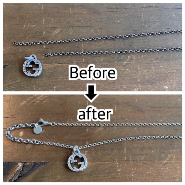 グッチのネックレスのチェーン切れ修理