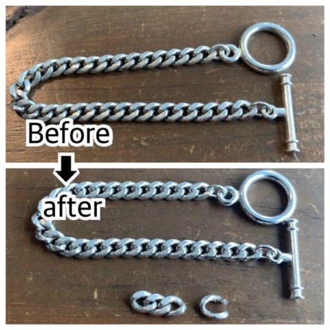 喜平ブレスレットのコマ詰め修理