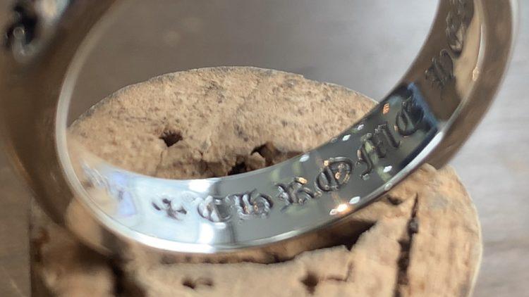 クロムハーツのリングのサイズ直し後