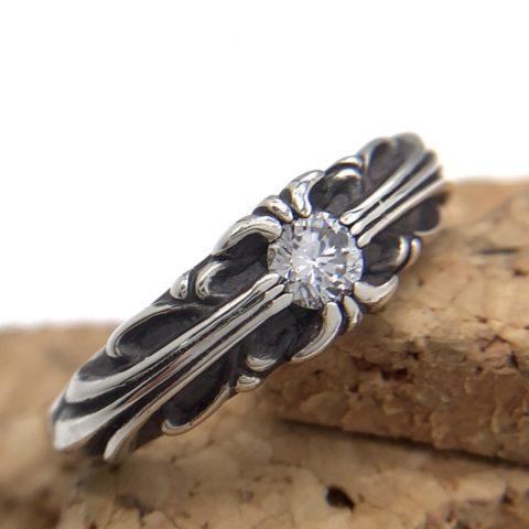 クロムハーツの指輪のアフターダイヤモンドカスタム後