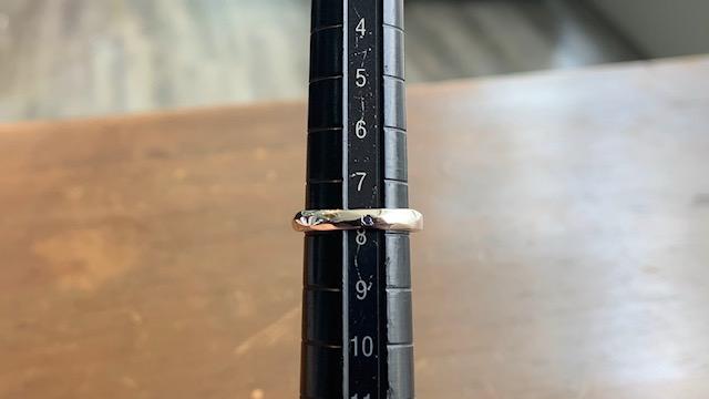 ガルニのリングのサイズ直し後