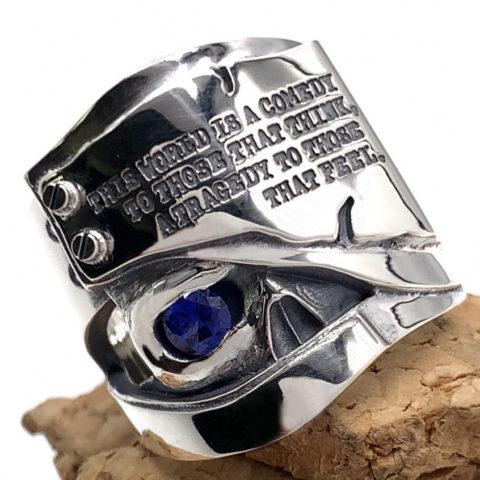 スカルリングの目に石を入れすカスタム、fc264
