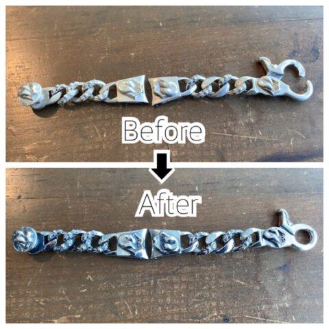 ブレスレットのクリップのバネ修理