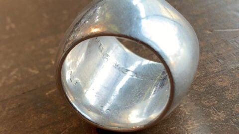 クロムハーツの指輪のサイズ直し前