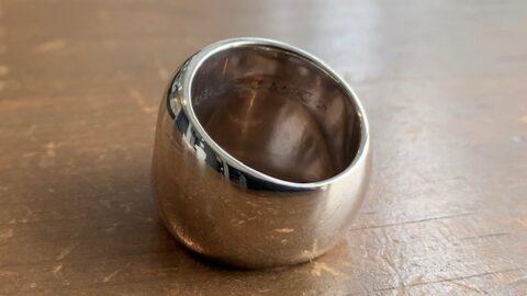 クロムハーツの指輪のサイズ直し後