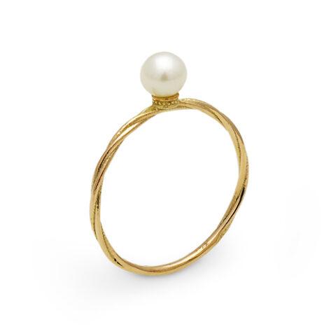 k10ゴールドと真珠の指輪