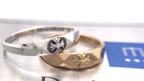 クロムハーツの指輪のアフターダイヤモンドカスタム