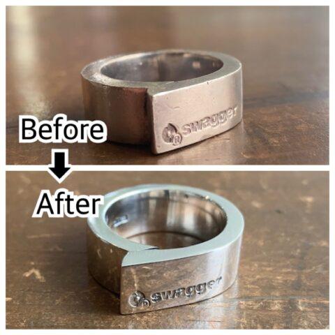 swaggerのリングの傷取り修理後