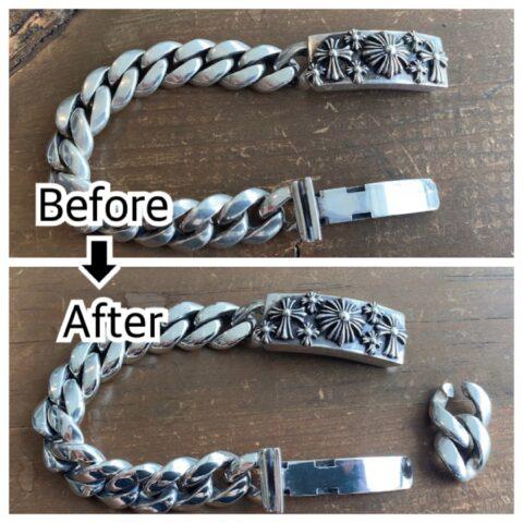 A&Gのブレスレットのコマ抜き修理