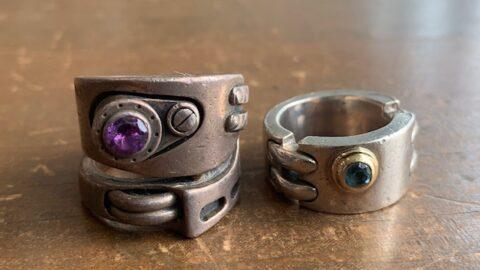 石付き指輪のサイズ直し前