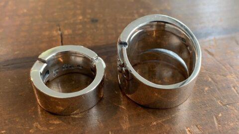 石付き指輪のサイズ直し後