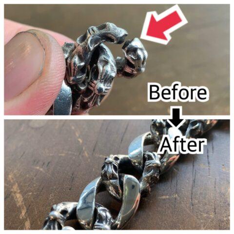 クロムハーツのブレスレットのロー付け修理