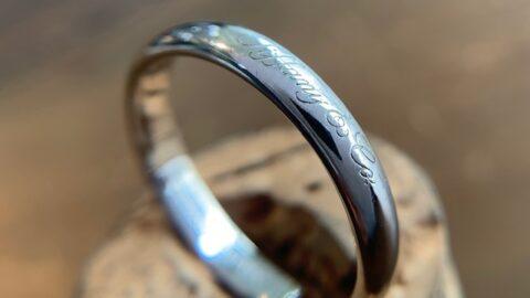ティファニーの結婚指輪の傷取り修理後