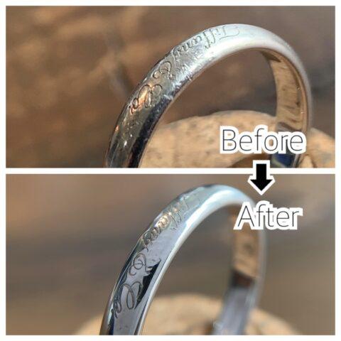 ティファニーの結婚指輪の傷取り修理