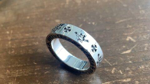クロムハーツの指輪の傷取り修理後