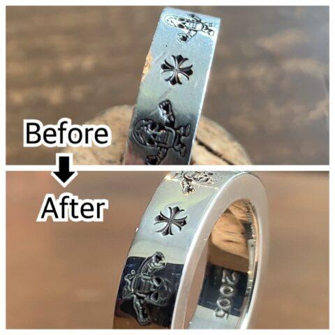 クロムハーツの指輪の傷取り修理