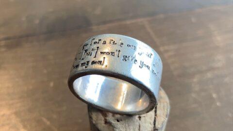 指輪のサイズ直し前