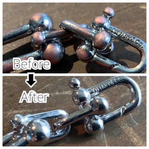ティファニーのブレスレットのメッキ修理