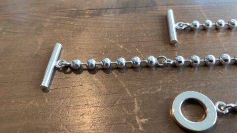 グッチのブレスレット、ネックレスのコマ詰め修理後